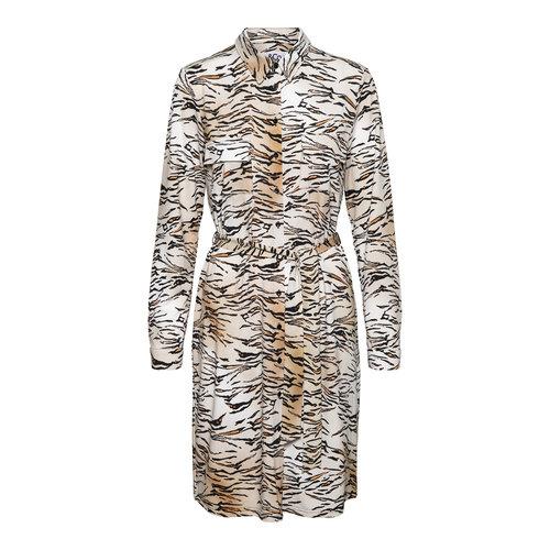 &Co Lotje dress 06AW-DR111-V  print camel multi