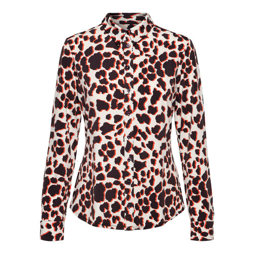 &Co Lotte blouse jersey 06-AWBL118-G bordeaux multi