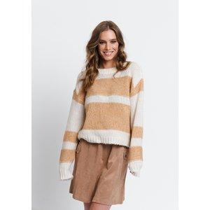 Rut&Circle Rut&Circle Nora striped knit 20-03-82 beige stripe