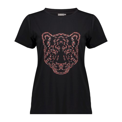Geisha Geisha T-shirt tiger head 02850-25 black