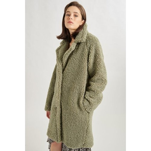24colours 24colours Teddy coat 90311a groen