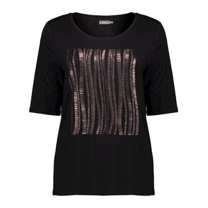 Geisha Geisha t-shirt vertical 02852-25 black / bronze