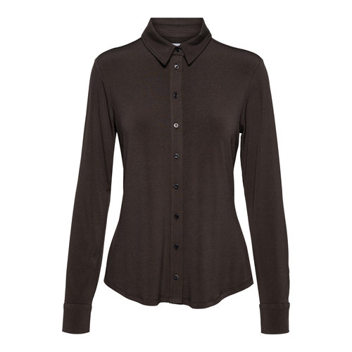 &Co Lotte blouse jersey black coffee