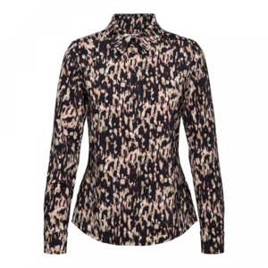 &Co Lotte blouse jersey 06AW-BL116-G paint bordeaux