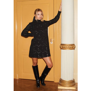 Ydence Ydence dress embroidery Bonnie black