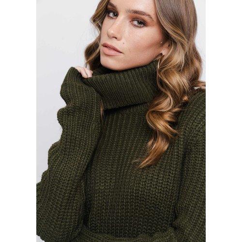 Rut&Circle Rut&Circle Tinelle rollneck knit army