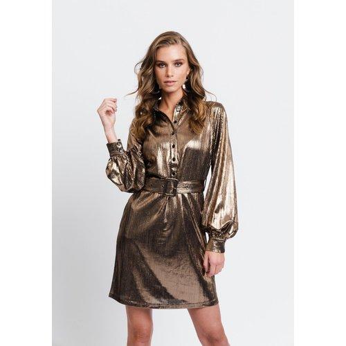 Rut&Circle Rut&Circle dress Serena 20-04-35 gold