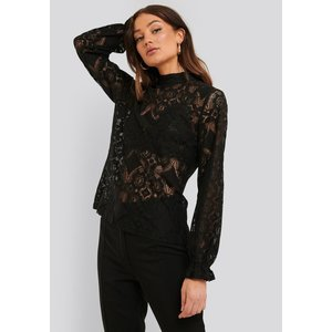 Rut&Circle Rut&Circle Vera lace top 20-04-15 black