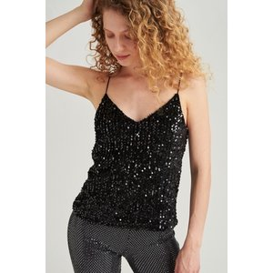 24colours 24Colours top met pailletjes 11455 black