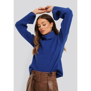 Rut&Circle Rut&Circle rollneck knit Marie 20-04-66 sharp blue