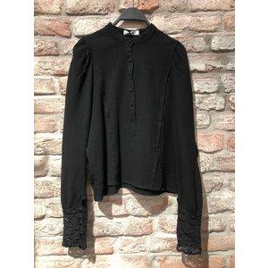 Ambika Ambika blouse met kanten manchet