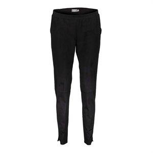 Geisha Geisha pants suedine stretch waistband 01571-27 black