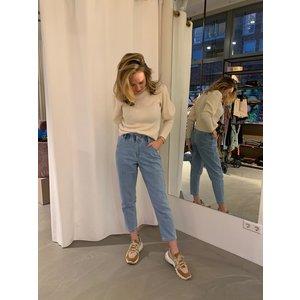 Beauregard Paperbag jeans high waist light  blue