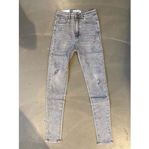 N&B Fashion High rise skinny jeans grey