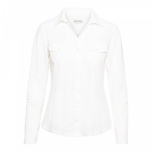 &Co &Co blouse Lino uni 11ss-bl121-m ecru