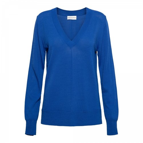 &Co &Co pullover Babs 11ss-pu101-p kobalt