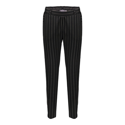 Geisha Geisha pants pinstripe 11156-60 black/sand