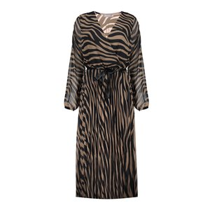 Geisha Geisha dress zebra with strap 07846-60 brown/black