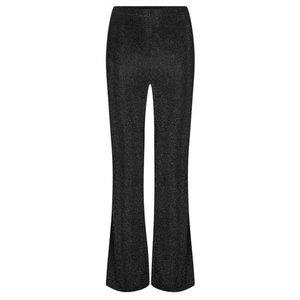 Ydence YDENCE Lurex flair pants black Britt AW9010