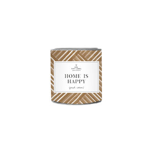 The Gift Label Candle small - Home is happy - Jasmine vanilla