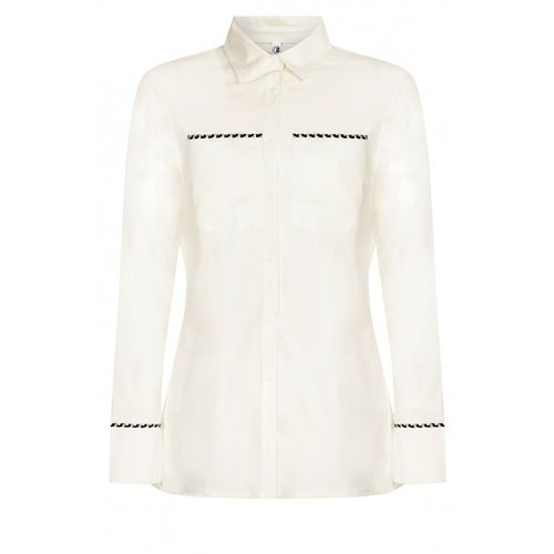 Zoso Zoso travel blouse Fleur 211 white/black