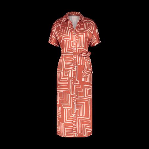 Aaiko Aaiko dress Glenne 516 red dessin