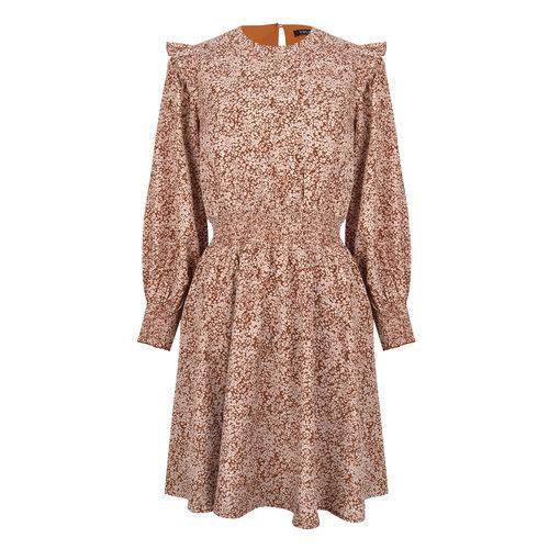 Ydence Ydence dress Kayla camel print