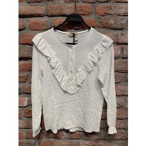 Top/blouse met ruffels One Size (diverse kleuren)