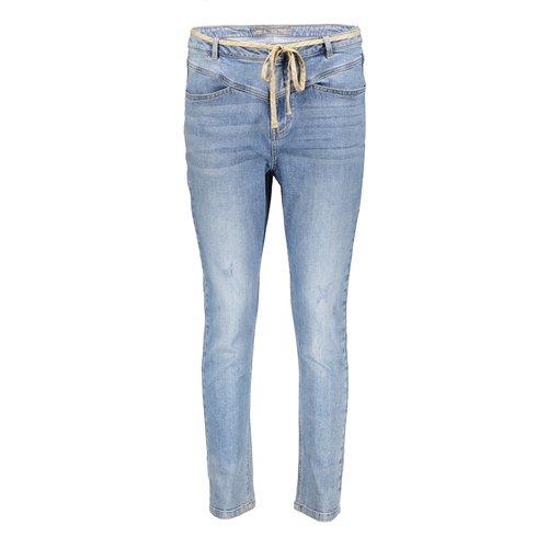 Geisha Geisha jeans + drawstring 11017-10 blue denim