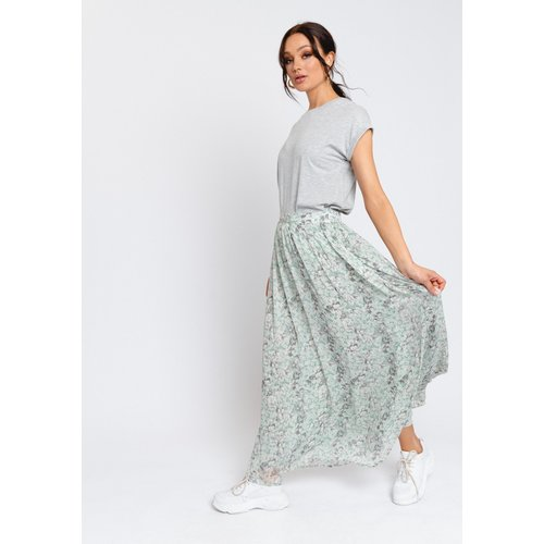 Rut&Circle Rut&Circle Sienna Maxi skirt 21-01-42 dusty mint flo