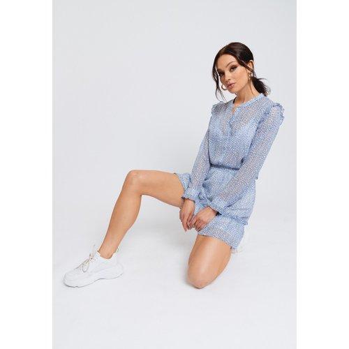 Rut&Circle Rut&Circle Vivian skirt 21-01-27 mid blue/white