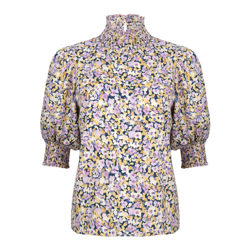 Ydence Ydence top Camille lila flower print