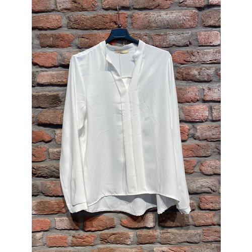 G.Ricceri G. Ricceri blouse met kleine v hals Wit