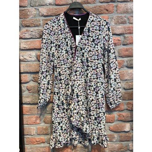 Freebird Freebird midi dress Rosy 01 burgundy