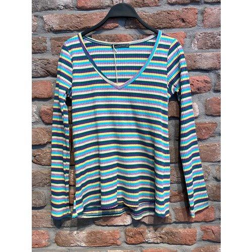G.Ricceri G. Ricceri T-shirt met lange mouw Pasteltinten