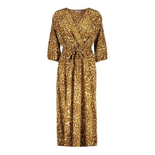 Geisha Geisha dress leopard 17080-21 tabacco combi