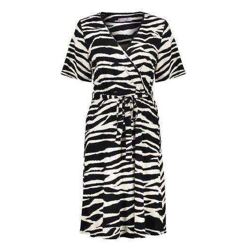 Geisha Geisha Dress 17130-20 Zebra black/sand combi