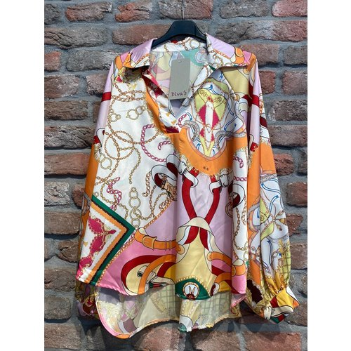 Amsterdam Blouse inspired print one size