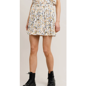 Rut&Circle Rut&Circle Nora Pleat Skirt 21-01-79 white flower p