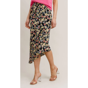 Rut&Circle Rut&Circle Zandra Asymmetric skirt 21-01-85 black flower