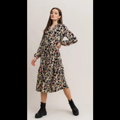 Rut&Circle Rut&Circle Zandra Dress 21-01-90 black flower