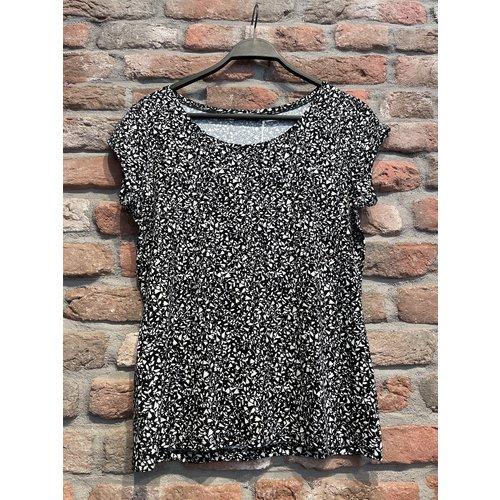 Geisha Geisha t-shirt Kate 12130-60 black/white