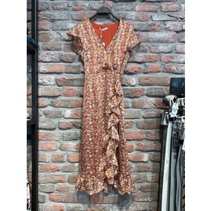 Freebird Freebird midi dress Rosy 01 orange