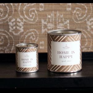 The Gift Label Candle big - Home is happy - Jasmine vanilla