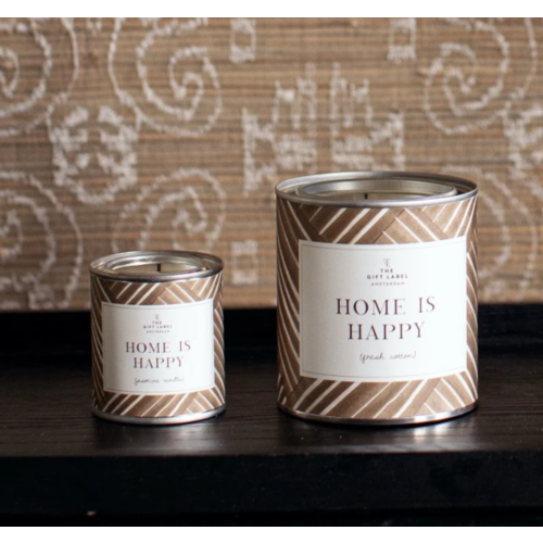 The Gift Label Candle big - Home is happy - Jasmine vanilla