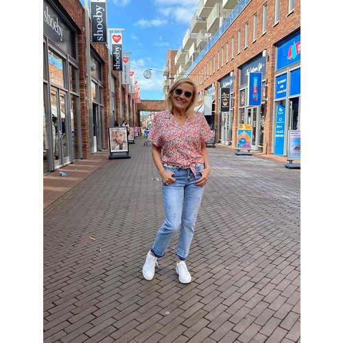 Typical Jill Typical Jill Zoe multiflower blouse/top white