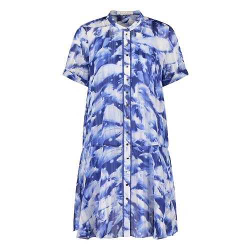 Freebird Freebird Celeste short sleeve mini dress blue