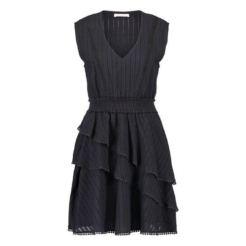 Freebird Freebird Kyona lace sleeveless mini dress black