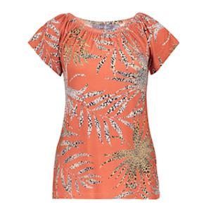 Geisha Geisha T-shirt Kim 12422-80 coral/sand