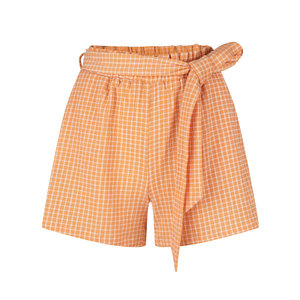 Ydence Ydence Short Rylee orange check